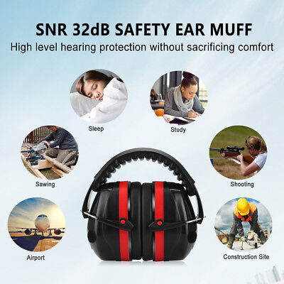 Folding Earmuff Shooting Hunting Protection Noise Reduction Ear Muffs SNR 32dB