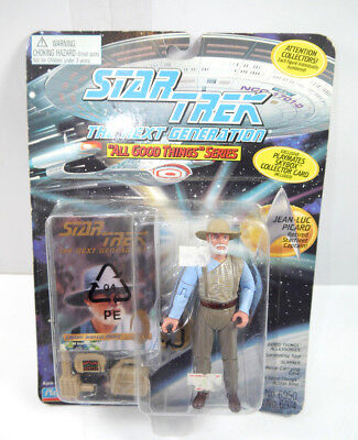 STAR TREK Next Generation ALL GOOD THINGS Picard retired Actionfigur PLAYMATES L
