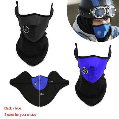 Winter Motorcycle Ski Half Face Mask Fleece Windproof Warm Cover Neck Guard New