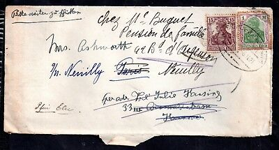 Germany Early Deutsches Reich postal cover - redirected WS7419