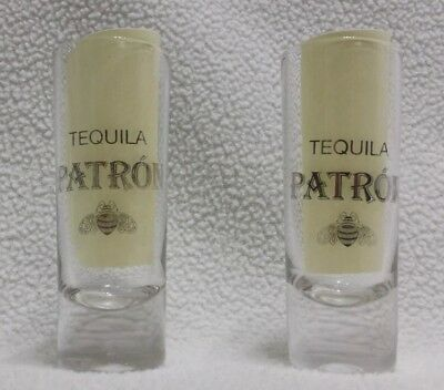 Patron Tequila tall shot glasses- Set of 2