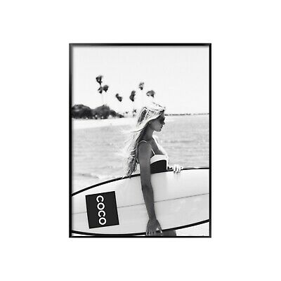 Coco Surfboard Girl -  A4-A1 - Poster - Print  - Black and White - Fashion