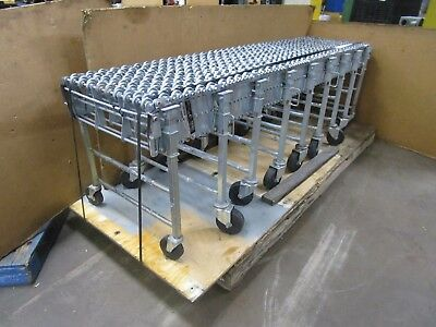 "Nestaflex 376 37624028 24""wide 28' Max Expandable Gravity Skate Wheel Conveyor"