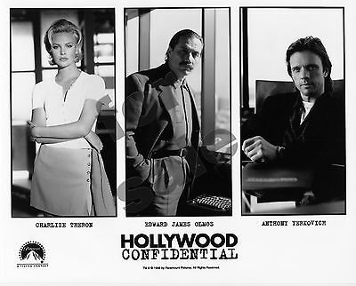 Hollywood Confidential Movie Still B&W Photo Charlize Theron Edward James Olmos