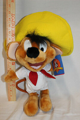 "Rare Ace 1997 15"" Tall Seedy Gonzales Plush Mouse With Tags"