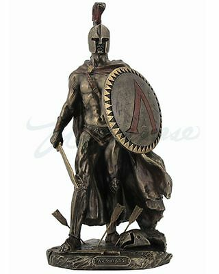 Leonidas King Of Sparta with Sword & Shield Statue Greek Sculpture HOME DECOR