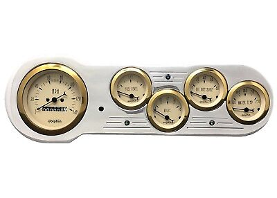 1953 1954 Chevy Car Gauge Cluster Gold