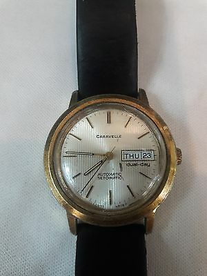 Very cool vintage Swiss made Caravelle by Bulova Set-o-matic day date automatic