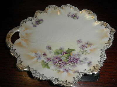 Beautiful Vintage Scalloped floral Design 8.5 by 7.5  Plate-Marked Germany/32