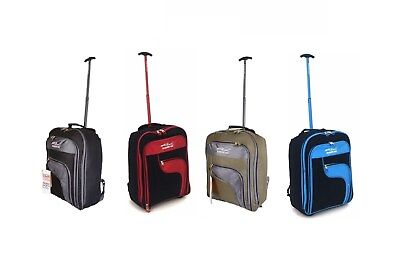 Wheeled Backpack Hand Luggage Trolley Bag Cabin Suitcase Holdall