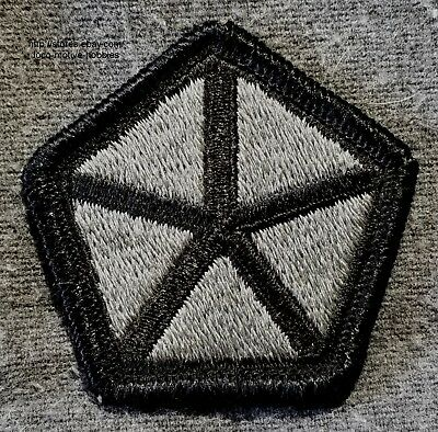 LMH PATCH Badge  V CORPS 5th Corp  US ARMY Pentagon Points Black Gray pre 2012