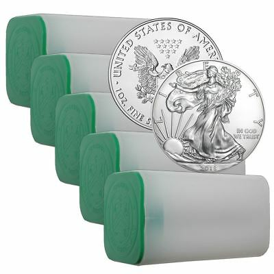 2018 American Silver Eagle 1 oz Coin | Lot of 100 in Sealed US Mint Rolls