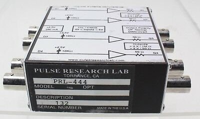 Pulse Research Lab PRL-444 4 Channel High Input Impedance 50 Ohm TTL Line Driver