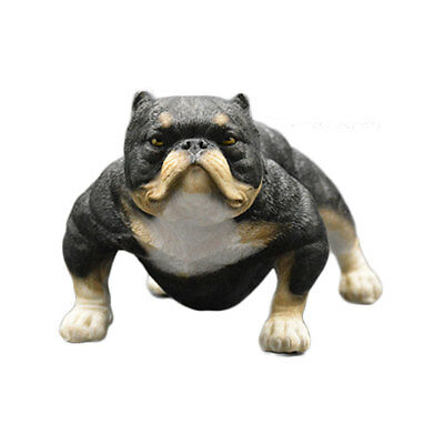 American Bully Pitbull Model Resin Dog Statue Ornaments Action Figure Accessory
