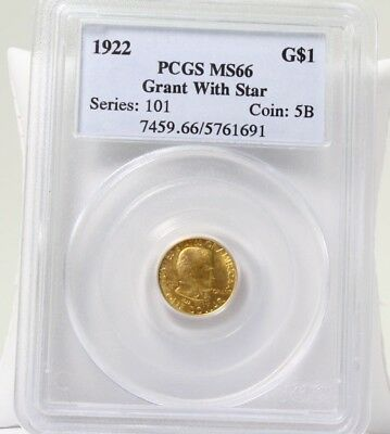 1992 G$1 Gold $1 Grant Dollar With Star PCGS MS66 Free Shipping!!!