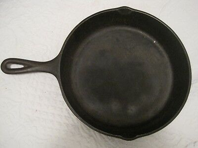 "Vintage 10.5"" CAST IRON SKILLET SK #8 Made in USA D1 Black 2"" deep pan"