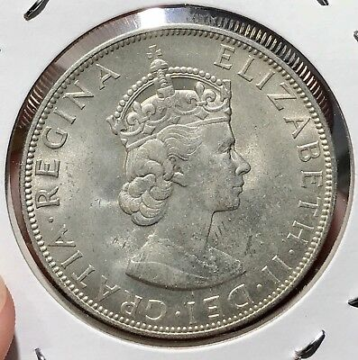 1964 Bermuda Silver Crown. Beautiful Collector Coin For Your Collection 8