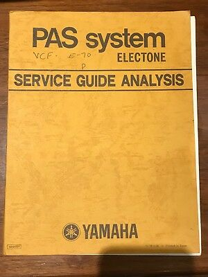 PAS system Electone Service Guide Analysis