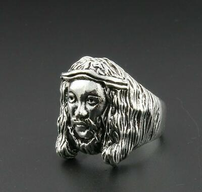 Men's Stainless Steel Fashion Gothic Punk Biker Skull Head Ring Male Jewelry New