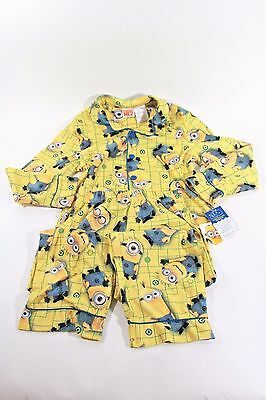New Despicable Me Minions 2 piece Polyester Boys 6/7 Pajama Set 010