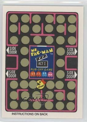1981 Fleer Ms Pac-Man Stickers Rub-Off #NoN Unscratched Game Card (Act I) 5l1