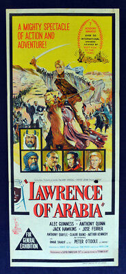 LAWRENCE OF ARABIA 1963 movie poster Daybill FIRST RELEASE Peter O'Toole