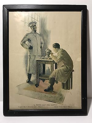 Cream of Wheat 1915 'A Proud Day For Rastus ' Framed Advertisement