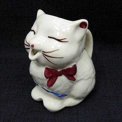 Shawnee Pottery USA Puss N' Boots Cat Creamer Small Ceramic Pitcher Vintage