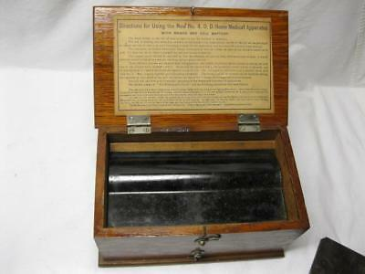 New No 4 D D Quack Medical Apparatus Box Device Antique Vtg Old Electro Shock