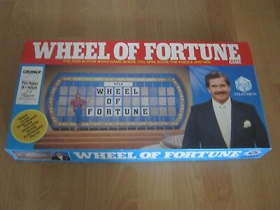 Wheel Of Fortune Game - Croner 1987 - Based On The TV Show -  Complete