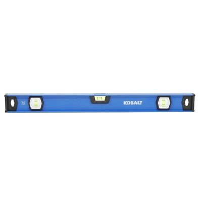 Kobalt 24-in I-Beam Box Beam Level Standard Levels Accuracy 0.029 Degrees