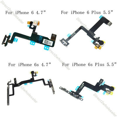 OEM For iPhone 6 6s 6 6s Plus  Power Volume Switch Button Flex Cable w/ Bracket