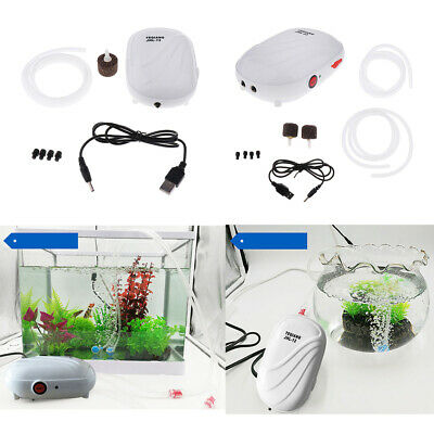 Aquarium Air Pump Oxygen Fountain Pond Aerator Water Pump Fish Tank Silent