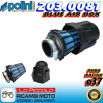 203.0081 FILTRO ARIA A FUNGO BLUE AIR BOX POLINI ø37 MINARELLI AM345 AM6