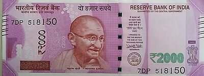 India 2000 Rupees Banknote Unc