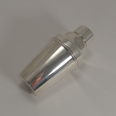 Art Deco Silver Plate Cocktail Shaker With Ice Breaker c.1930