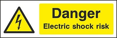 Danger Electric Shock Risk Warning Sign [V6WELE0014] Electrical Safety