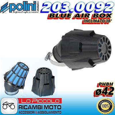 203.0092 Filtro Aria Fungo Blue Air Box Polini Incl. 30° Carburatori Phbh 28 30