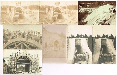 Lot 8 Cpa Photo Construction Pont Viaduc