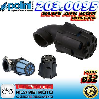 203.0095 Filtro Aria Fungo Blue Air Box Polini Inc. 90° Carburatori Phbg 19 21