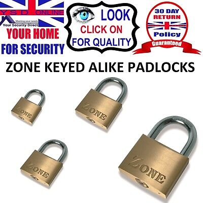 High Security Keyed Alike Brass Padlock Same Key - 30Mm / 40Mm / 50Mm / 60Mm
