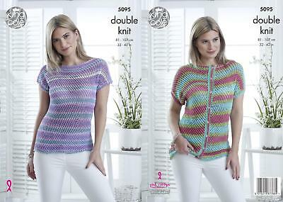 aa4c44bb6 KING COLE 4770 Knitting Pattern Womens Sweater and Vest in ...