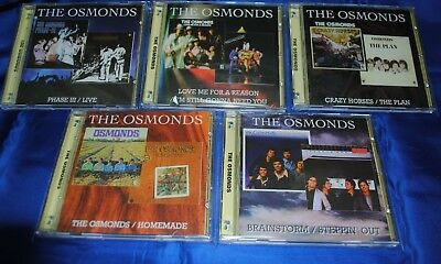 THE OSMONDS-5CD Set-Brainstorm/Steppin` Out/Crazy Horses/Plan/Homeland/Phase III