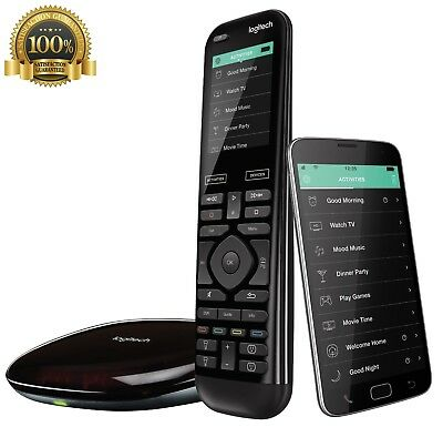 Logitech Harmony Elite Remote Voice Control Channel Movie Smart Home App Power