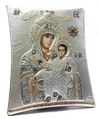 Our Lady of Bethlehem Holy Mary Blessed Mother Of Jesus Byzantine Silver Icon