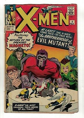 Marvel Comics Xmen 4 X men 1st Scarlet witch Quicksilver Magneto VG- 3.0