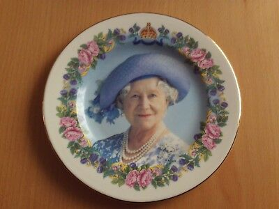 "Crochendy Wales Bone China Commemorative plate ""Queen Mother 100th Birthday"""