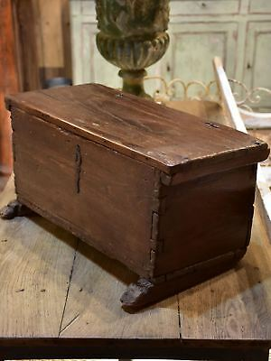 17th century French trunk - antique French chest rustic