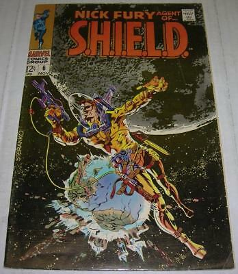 NICK FURY, AGENT OF SHIELD #6 (Marvel 1968) CLASSIC Jim Steranko cover (VG/FN)