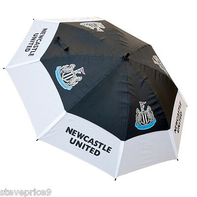 Brand New Newcastle United Fc Double Canopy Golf Umbrella.